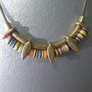 "Stella & Dot Jewelry - Stella & Dot Multi Colored Disc 20""necklace #S002A"